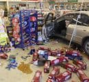 March, 2011 crash at a 7-Eleven store in Midland, Texas (Photo by Roger Primera)