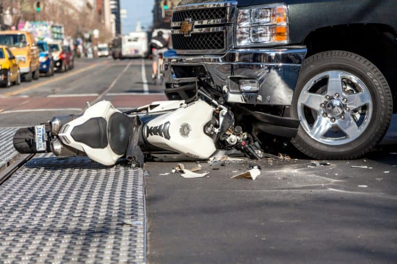 The aftermath of a 2014 motorcycle crash in San Francsico. iStock